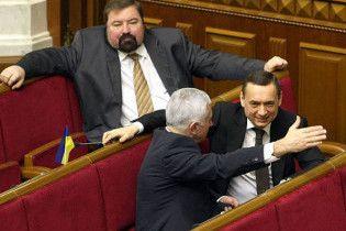 Депутати прибрали з Ради партійну символіку