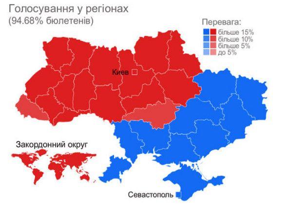 Голосування у регіонах
