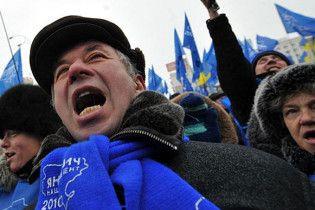 Три тисячі прихильників Януковича влаштували під вікнами ЦВК мітинг з музикою