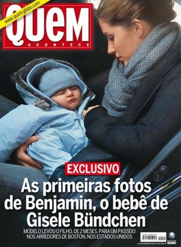 Жізель Бюндхен показала свого двомісячного сина