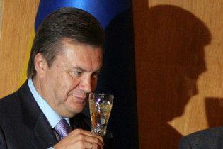 Янукович підняв келих за друзів, які допоможуть Україні
