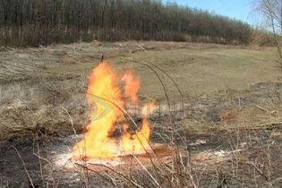 У Вінницькій області сталася пожежа на газогоні