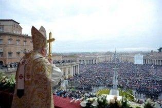 Папа Римський відслужив великодню месу, не згадуючи про сексуальний скандал