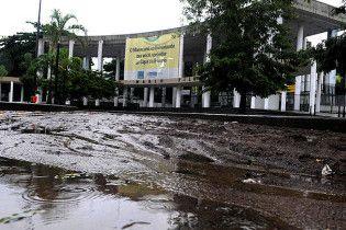 """В Бразилії затоплено легендарний стадіон """"Маракана"""""""