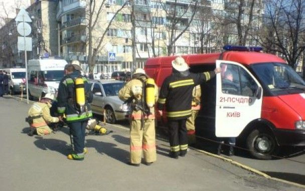 У будівлі МВС у Києві сталася пожежа