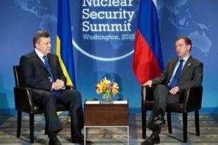 Мєдвєдєв домовився з Януковичем про травневий візит до Києва