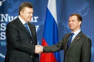 Янукович умовив Мєдвєдєва розглянути нові газові пропозиції