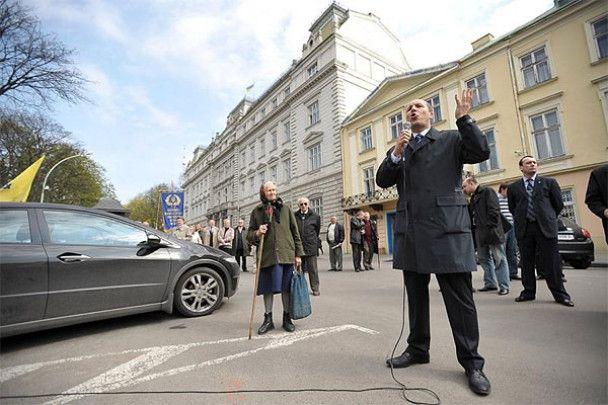 У Львові три дні мітингуватимуть проти призначення губернатором Горбаля