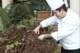 Перуанські кондитери відтворили з шоколаду цитадель інків Мачу-Пікчу