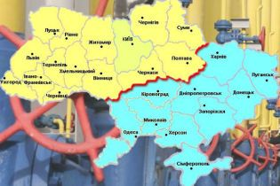 Газовий конфлікт поділив Україну на Схід і Захід
