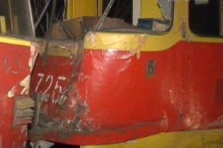Три трамваї зіткнулися у Запоріжжі