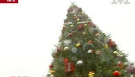 На Майдані Незалежності ще досі не розібрали новорічну ялинку