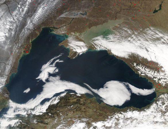 Знімок Чорного моря зі супутника (Фото: Wikipedia)