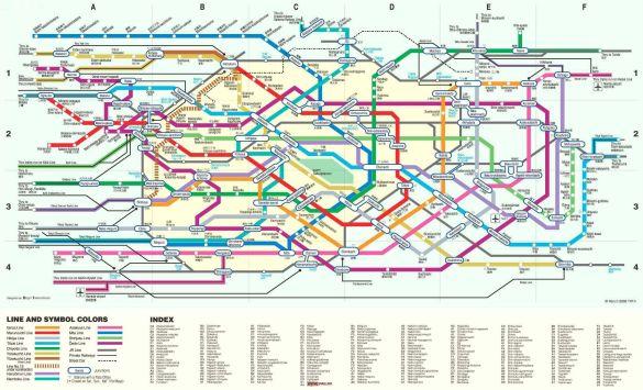 Карта-схема токійського метро (Фото: svali.ru)