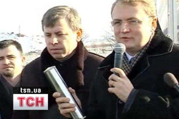 У Львові закладають фундамент стадіону до Євро-2012