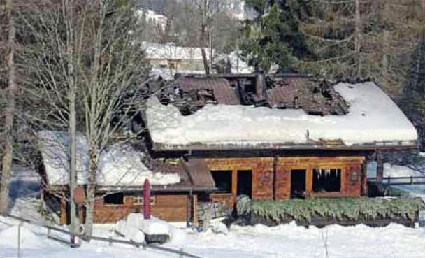 Ющенко ледь врятувався від пожежі у Швейцарії