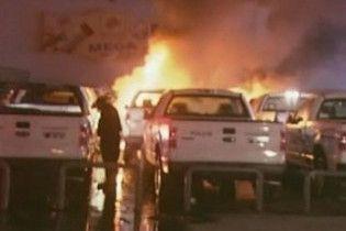 37 патрульних поліцейських машин спалені на півночі Мексики