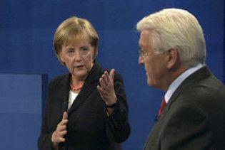 У Німеччині пройшла передвиборна теледуель Меркель і Штайнмайєра