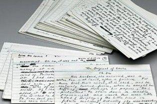 Виставлено на продаж рукопис останнього роману Набокова