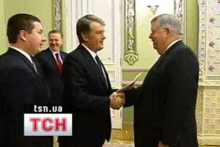 Ющенко похвалив посла США за гарну українську вимову