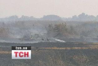 На мулових полях у Бортничах триває пожежа