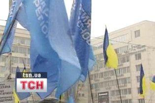 Регіонали заблокували вхід до ЦВК
