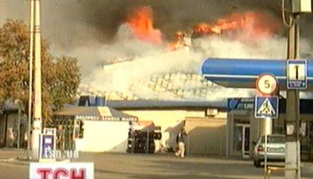 Пожежа на ринку у Дніпропетровську