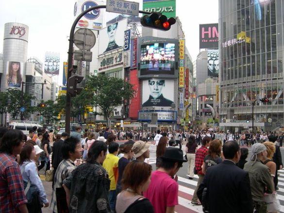 Перехрестя Шибуя в Токіо (Фотш: Wikipedia)
