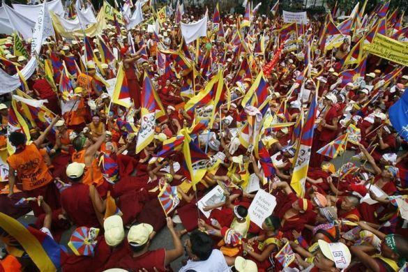 Протест жителів Тибету