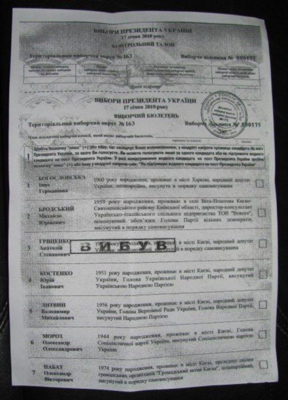 Гриценка викреслили з бюлетенів. Фото grytsenko.com.ua