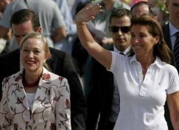 Беніта Ферреро-Вальднер і Сесілія Саркозі