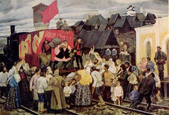 """""""Агітпоїзд"""" (картина А. Жабського) (Фото: www.sgu.ru)"""