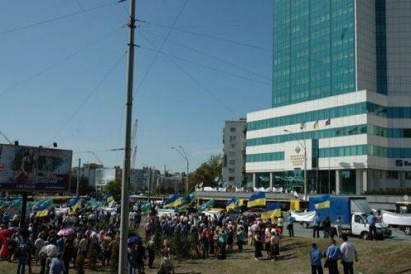 Мітинг працівників метро