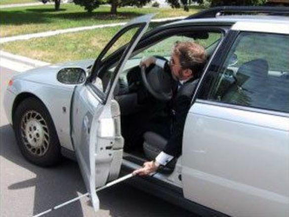 Сліпий п'яний водій