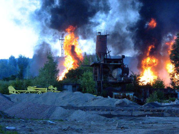 """""""Галнафтогаз"""" звинувачує в пожежі залізницю"""
