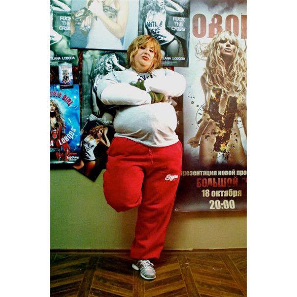 Світлана Лобода погладшала на 98 кг