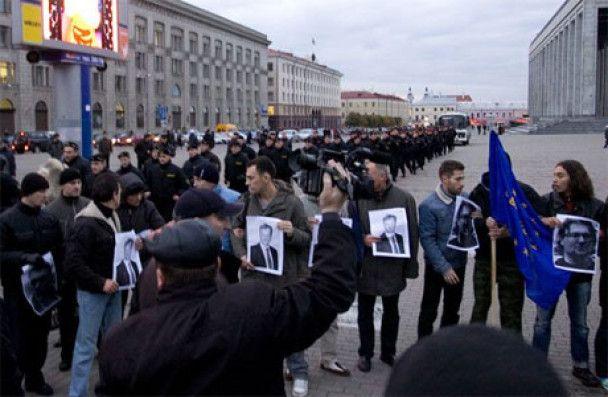 У Мінську ОМОН жорстоко розігнав акцію опозиції