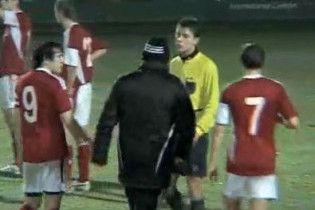Російські футболісти побили українського суддю (відео)