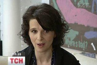 Французька акторка Жульєт Бінош привезла до Києва виставку своїх робіт