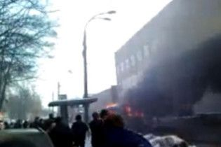 У Києві згорів трамвай