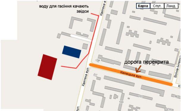 У Вінниці згорів підземний паркінг: двоє людей постраждали