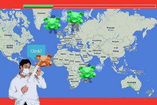 В Інтернеті з'явилася гра, в якій треба вбивати хворих на грип свиней