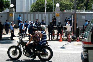У загородження перед посольством РФ в Японії врізався автомобіль