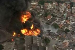 В Бразилії горить хімічний завод