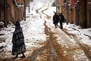 В Аргентині снігопад