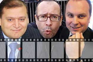 Шуфрич, Добкін та російський звідник Лістерман разом зіграли в кіно