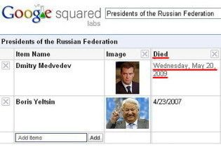Google поховав Дмитра Мєдвєдєва