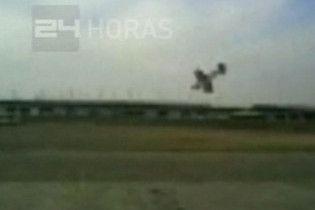 В Чилі відзняли падіння літака
