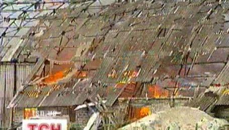 Пожежа в районі елітних дач під Києвом