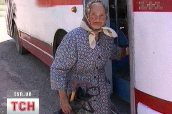 Пенсіонерка та автобус